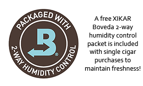 Milan includes a free XIKAR Boveda 2-way humidity control packet with single cigar purchases to maintain freshness during transit from our humidor to yours!