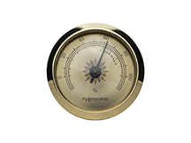 Analog Hygrometer - Gold Face