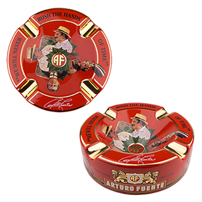 Arturo Fuente Red Ceramic Cigar Ashtray - Accommodates 4 Cigars