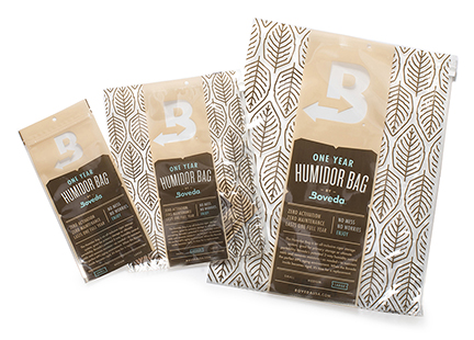 Boveda Humidor Bags in Small, Medium and Large Sizes