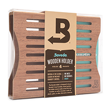Boveda 4-Packet Wooden Holders for Humidification Packets