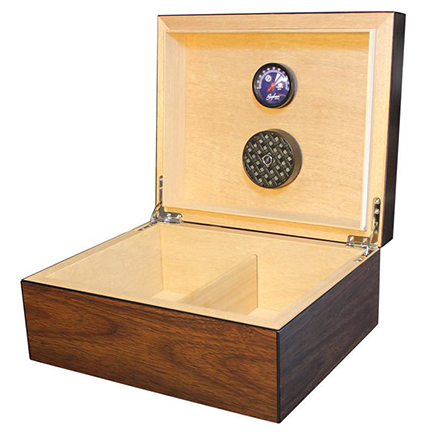 Brigham Equinox Dark Walnut Finish Cigar Humidors