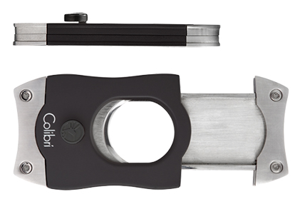 Colibri S-Cut Cigar Cutter in Open Position and Side View