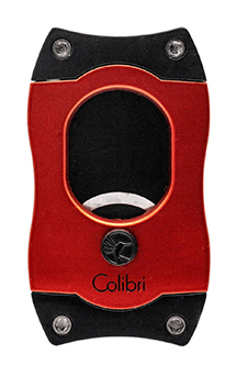 Colibri Red and Black S-Cut Cigar Cutter with Black Blades