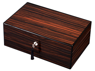 Diamond Crown The Alexander Exotic Black Ebony Cigar Humidor