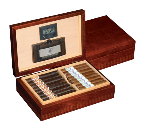 Diamond Crown The Delaware Solid Cherry Cigar Humidor