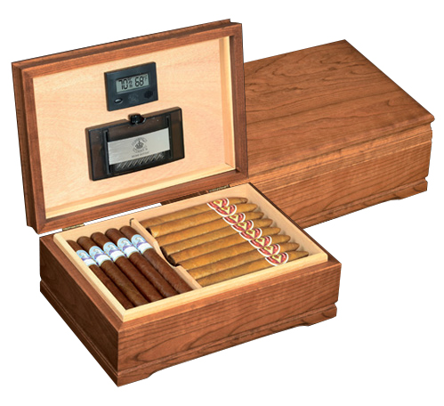 Diamond Crown The Jefferson Solid Cherry Cigar Humidor
