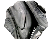 Black Translucent Marbled Glass Cigar Ashtray - Accommodates 8 Cigars