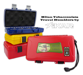 Milan Tobacconists Travel Cigar Humidors by XIKAR