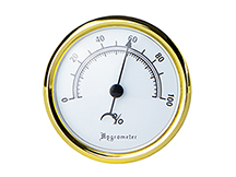 Savoy Large Analog Hygrometer - White Face
