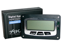XIKAR Slim Rectangular Digital Hygrometer/Thermometer