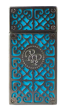 RP Burn Double Torch Cigar Lighter in Gunmetal and Teal Finish