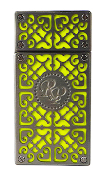 RP Burn Double Torch Cigar Lighter in Gunmetal and Neon Yellow Finish