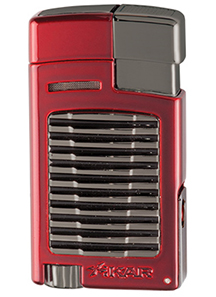 XIKAR Forte Single Jet Flame Cigar Lighter in Daytona Red with G2 Trim Finish