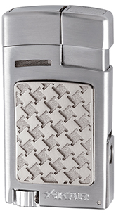 XIKAR Forte Soft Flame Cigar Lighter in Silver Finish