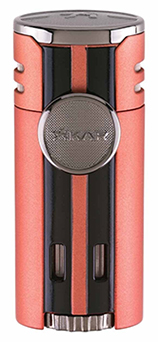 XIKAR HP4 Quad Jet Flame Cigar Lighter in Chopper Orange Finish