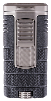XIKAR Tactical Triple Jet Flame Cigar Lighter in Black and Gunmetal Finish