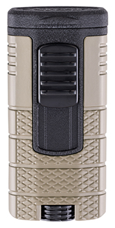 XIKAR Tactical Triple Jet Flame Cigar Lighter in Tan and Black Finish