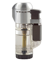 XIKAR Tech Single Jet Flame Cigar Lighter in Transparent Clear Finish