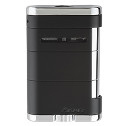 XIKAR Allume Tabletop Cigar Lighter in Tuxedo Black Finish