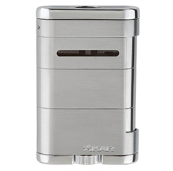XIKAR Allume Tabletop Cigar Lighter in Steel Silver Finish