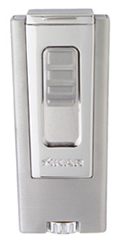 XIKAR Trezo In-Line Triple Flame Cigar Lighter in Chrome Polish Finish