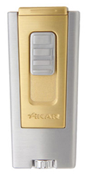 XIKAR Trezo In-Line Triple Flame Cigar Lighter in Gold Finish