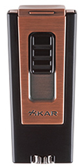 XIKAR Trezo In-Line Triple Flame Cigar Lighter in Black Finish