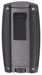 XIKAR Turismo Double Jet Flame Cigar Lighter in Matte Gray Finish