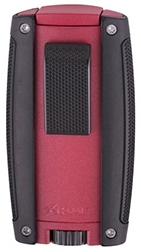 XIKAR Turismo Double Jet Flame Cigar Lighter in Matte Red Finish