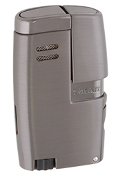 XIKAR Vitara Double Jet Flame Cigar Lighter with 7mm Cigar Punch in G2 Finish