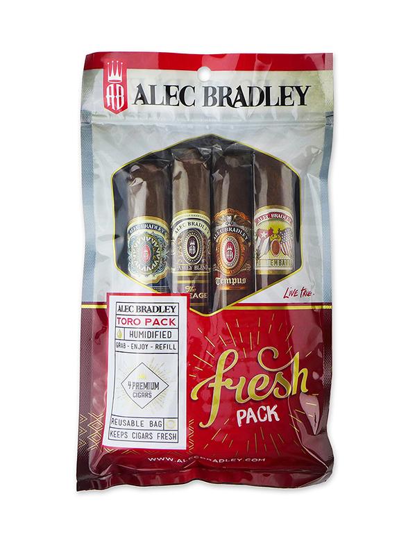 Alec Bradley Toro 4-Cigar Fresh Pack Sampler