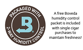 Milan includes a free Boveda 2-way humidity control packet with single cigar purchases to maintain freshness during transit from our humidor to yours!