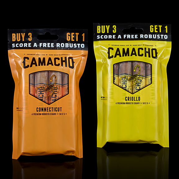 Camacho Connecticut & Criollo Robusto 4-Cigar Fresh Packs