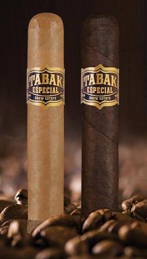Tabak Especial Dulce and Negra Coffee Infused Cigars in Colada, Corona, and Toro Sizes