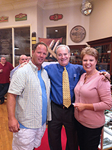 J.C. Newman Cigar Company's Bobby Newman (center) making sure everyone feels welcome!