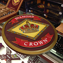 A handsome Diamond Crown logo plaque was one of several goodies handed out free with box purchases.