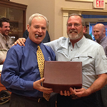 Our grand prize was a Diamond Crown America Series Washington Cigar Humidor and winner Jeff was a VERY happy camper!