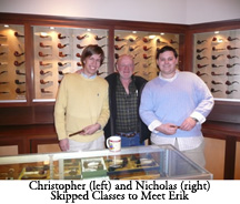Christopher and Nicholas Skipped Classes to Meet Erik Nording