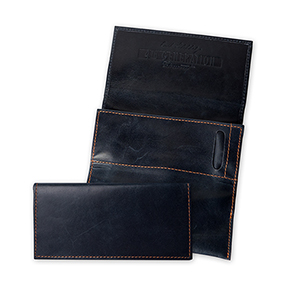 Erik Stokkebye 4th Generation Navy Blue Leather Roll-Up Tobacco Pouch