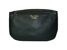 Ben Wade Black Leather Zippered Tobacco Pouch