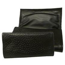 Ben Wade Black Peccary Leather Roll-Up Tobacco Pouch