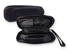 Black Leatherette Churchwarden 2-Pipe Travel Cases