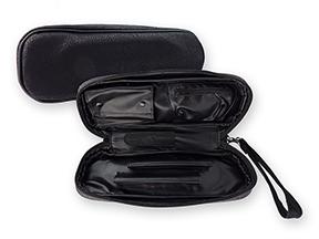 Black Leatherette Churchwarden 2-Pipe Travel Cases