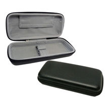 Black Vinyl 2-Pipe Travel Case