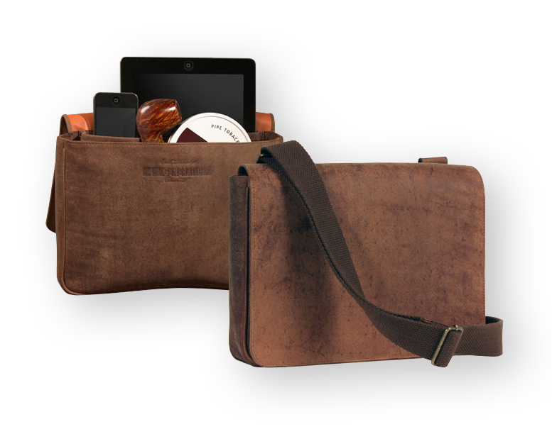 Leather And Vinyl Tobacco Pouches And Pipe Travel Cases By