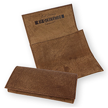 Erik Stokkebye Hunter Brown Leather Roll-Up Tobacco Pouch