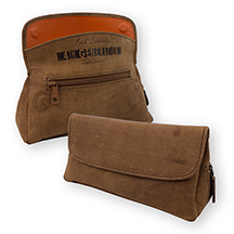 Erik Stokkebye Hunter Brown Leather Combination Tobacco Pouch/Pipe Carrier with Pipe Tool Compartment
