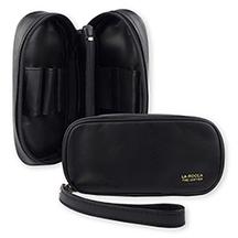 La Rocca Leather 2-Pipe Travel Case