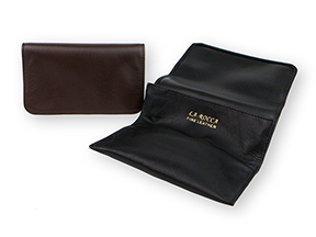 La Rocca Leather Roll-Up Tobacco Pouch